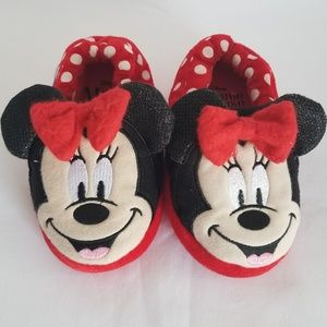 Disney Minnie Mouse Red & Polka Dots Girl Slippers